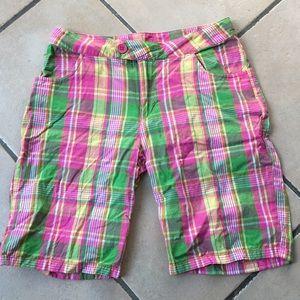 Like-new cotton plaid shorts